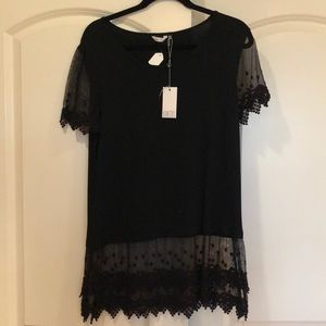 Black extender lace shirt